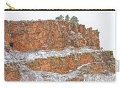 Colorado Red Sandstone Country Dusted With Snow Carry-all Pouch