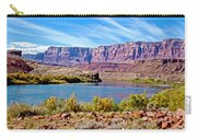 Colorado River Upstream From Boat Ramp At Lee's Ferry In Glen Canyon National Recreation Area-az Carry-all Pouch