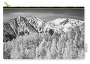 Colorado Rocky Mountain Autumn Magic Black And White Carry-all Pouch