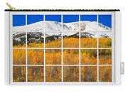 Colorado Rocky Mountain Autumn Pass White Window View  Carry-all Pouch