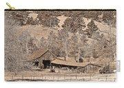 Colorado Rocky Mountain Barn Sepia Carry-all Pouch