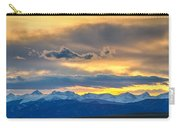 Colorado Rocky Mountain Front Range Sunset Gold Carry-all Pouch