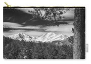 Colorado Rocky Mountain View Black And White Carry-all Pouch