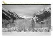 Colorado Rocky Mountain Winter Horseshoe Park Bw Carry-all Pouch