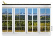 Colorado Rocky Mountains White Window Frame View Carry-all Pouch