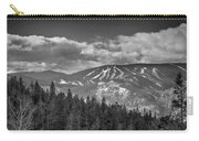 Colorado Ski Slopes In Black And White Carry-all Pouch