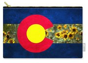 Colorado State Flag In Van Gogh Carry-all Pouch
