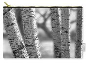 Colorado White Birch Trees In Black And White Carry-all Pouch