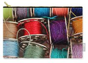 Colored Bobbins - Seamstress - Quilter Carry-all Pouch