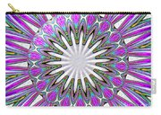Colored Foil Lily Kaleidoscope Under Glass Carry-all Pouch