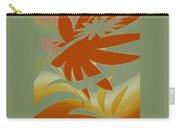 Colored Jungle Orange Splash Carry-all Pouch