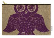 Colored Owl 1 Of 4  Carry-all Pouch