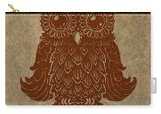 Colored Owl 2 Of 4  Carry-all Pouch