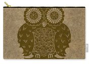 Colored Owl 3 Of 4  Carry-all Pouch