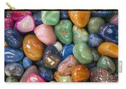 Colored Polished Rocks Carry-all Pouch
