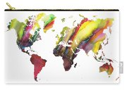 Colored World Map Carry-all Pouch