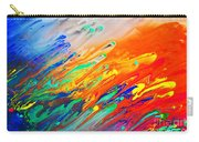 Colorful Abstract Acrylic Painting Carry-all Pouch