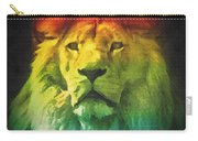 Colorful Artistic Portrait Of A Lion On Black Background  Carry-all Pouch