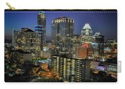 Colorful Austin Skyline At Night Carry-all Pouch