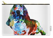 Colorful Basset Carry-all Pouch