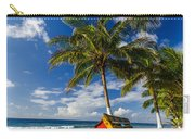 Colorful Bench On Caribbean Coast Carry-all Pouch