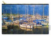 Colorful Boat Harbor Sailboats Shrimp Boats Carry-all Pouch