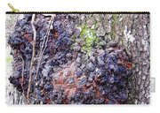 Colorful Wood Burl Carry-all Pouch