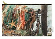 Colorful Catch - Starfish In Fishing Nets Carry-all Pouch