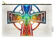 Colorful Celtic Cross By Sharon Cummings Carry-all Pouch