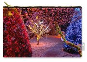 Colorful Christmas Lights On Trees Carry-all Pouch
