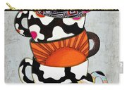 Colorful Coffee Cups Mugs Hot Cuppa Stacked I By Romi And Megan Carry-all Pouch by Megan Duncanson