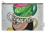Colorful Coffee Cups Mugs Hot Cuppa Stacked II By Romi And Megan Carry-all Pouch