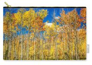 Colorful Colorado Autumn Aspen Trees Carry-all Pouch