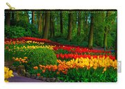 Colorful Corner Of The Keukenhof Garden 4. Tulips Display. Netherlands Carry-all Pouch