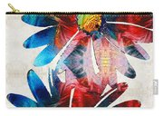 Colorful Daisy Art - Hip Daisies - By Sharon Cummings Carry-all Pouch