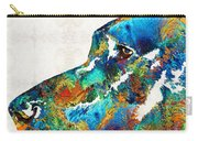 Colorful Dog Art - Loving Eyes - By Sharon Cummings  Carry-all Pouch