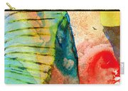 Colorful Elephant Art By Sharon Cummings Carry-all Pouch by Sharon Cummings