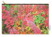 Colorful Fall Leaves Autumn Crepe Myrtle Carry-all Pouch