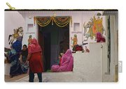 Colorful Family Gathering Ancestral Home Udaipur Rajasthan India Carry-all Pouch