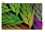 Colorful Feather Fern - Abstract - Fractal Art - Square - 1 Tl Carry-all Pouch
