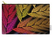 Colorful Feather Fern - Abstract - Fractal Art - Square - 2 Tr Carry-all Pouch