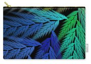 Colorful Feather Fern - Abstract - Fractal Art - Square - 3 Ll Carry-all Pouch