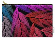 Colorful Feather Fern - Abstract - Fractal Art - Square - 4 Lr Carry-all Pouch