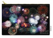 Colorful Fireworks Of Various Colors In Night Sky Carry-all Pouch