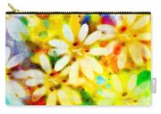 Colorful Floral Abstract - Digital Paint Carry-all Pouch