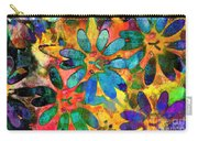 Colorful Floral Abstract IIi Carry-all Pouch