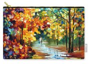 Colorful Forest - Palette Knife Oil Painting On Canvas By Leonid Afremov Carry-all Pouch