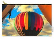 Colorful Framed Hot Air Balloon Carry-all Pouch by Robert Bales
