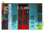 Colorful French Quarter Door  Carry-all Pouch