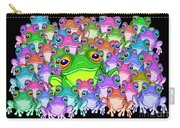 Colorful Froggy Family Carry-all Pouch